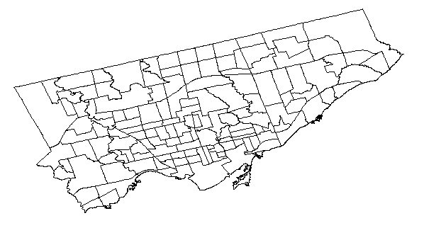 Plotting Choropleths from Shapefiles in R with ggmap – Toronto Neighbourhoods by Population